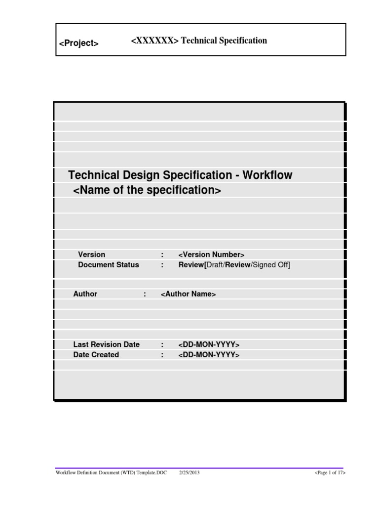 Workflow definition document wtd templatepdf specification workflow definition document wtd templatepdf specification technical standard business process maxwellsz