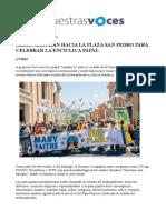 EspNota de prensa marcha medioambiente en Vaticanoañol Press Release
