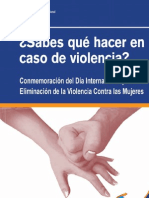 ¿Sabes qué hacer en caso de violencia?