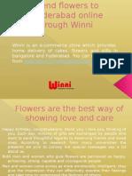 Send Flowers Online in Hyderabad through Winni