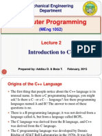 Lecture 2. Introduction to C++