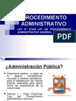 Procedimiento Administrativo Generales Clases 29nov14