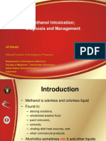 Methanol Intoxication - Diagnosis and Management