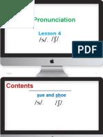 English Pronunciation-lesson 4