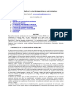 Metodologia Biadi en La Solución de Problemas Administrativos