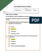 Evaluación Unidad II Ciencias Sociales