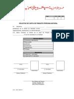 Solicitud de Carta de Finiquito PN.,