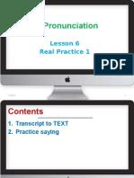 English Pronunciation-lesson 6