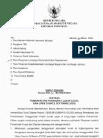 surat edaran OSS