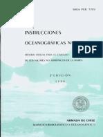 instrucciones oceanograficas