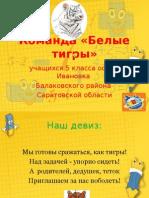 Белые тигры. ООШ с. Ивановка. Балаковский район. I этап.ppt.