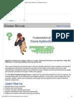 Fundamentals of Crane Hydraulics
