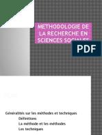Methodologie de La Recherche en Sciences Sociales