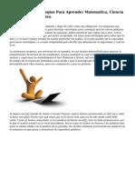 Las Mejores Estrategias Para Aprender Matematica, Ciencia E Historia Publimetro