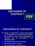 Discharge of Contract