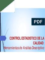 Control Estadistico de La Calidad Herramientas de Análisis Descriptivo