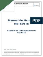 Manual NetSuite Diferimento de Receita