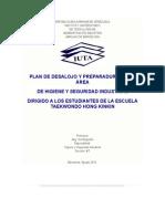 Plan de Desalojo y Preparaduria en El Área