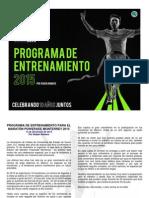 Programa de entrenamiento para el Maratón Monterrey 2015