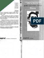 Jose Lezama Lima - Poesía (Coloquio de Poitiers)
