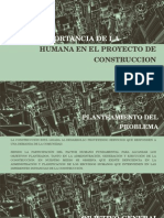 importancia de la gestion humana en el proyecto de construccion