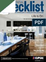 Clipsal Essential Checklist