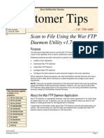 Xerox Scan To File Using the War FTP Daemon Utility