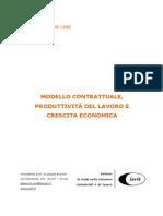 Modello contrattuale, produttività del lavoro e crescita economica
