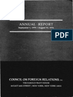 Council on Foreign Relations Membership List, 1976
