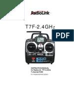User Manual for RadioLink T7F Transmitter
