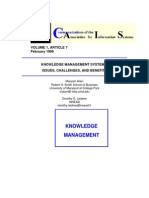 Knowledge Management Systems Issues Challenges and Benefits