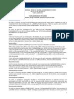 Comunicado ao Mercado - Balan?o Operacional - Junho 2015