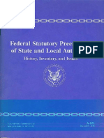 Federal Statutory Preemption of State and Local Authority