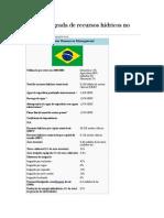 Gestão Integrada de Recursos Hídricos No Brasil