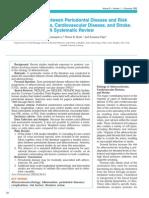 Associations Periodontal Disease Risk for Artheosclerosis Cardiovascular Disease and Stroke