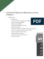 Gestión de Recursos Humanos y de Las Compras en proyectos
