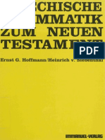 Ernst G. Hoffmann,  Griechische Grammatik Zum Neuen Testament