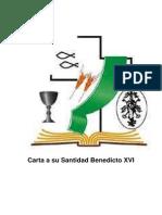 Carta a Su Santidad Benedicto XVI