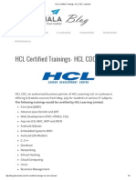 HCL Certified Trainings- HCL CDC, Lucknow