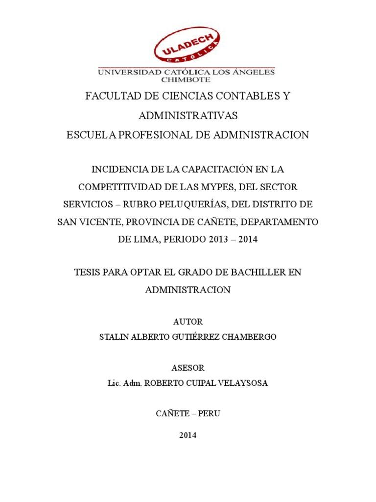 Tesis Final - Competitividad, Capacitación, rubro SPA.