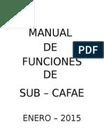 Manual de Funciones de Sub Cafae
