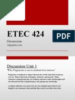 etec 424 discussions