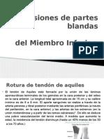 Lesiones de Partes Blandas m.i