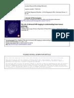 Advanced Mr Imaging in Understanding Brain Tumour Pathology