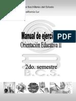 Ejercicios de Orientacion Educativa Semestre II