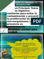 P. LIMPIEZA   Y DESINFECCIÓN.ppt