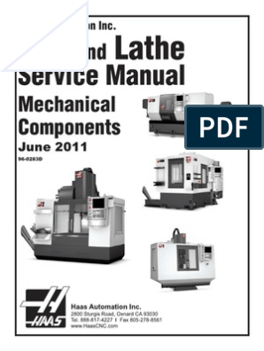 HAAS 96-0283D English Mechanical Service Manual | Computing