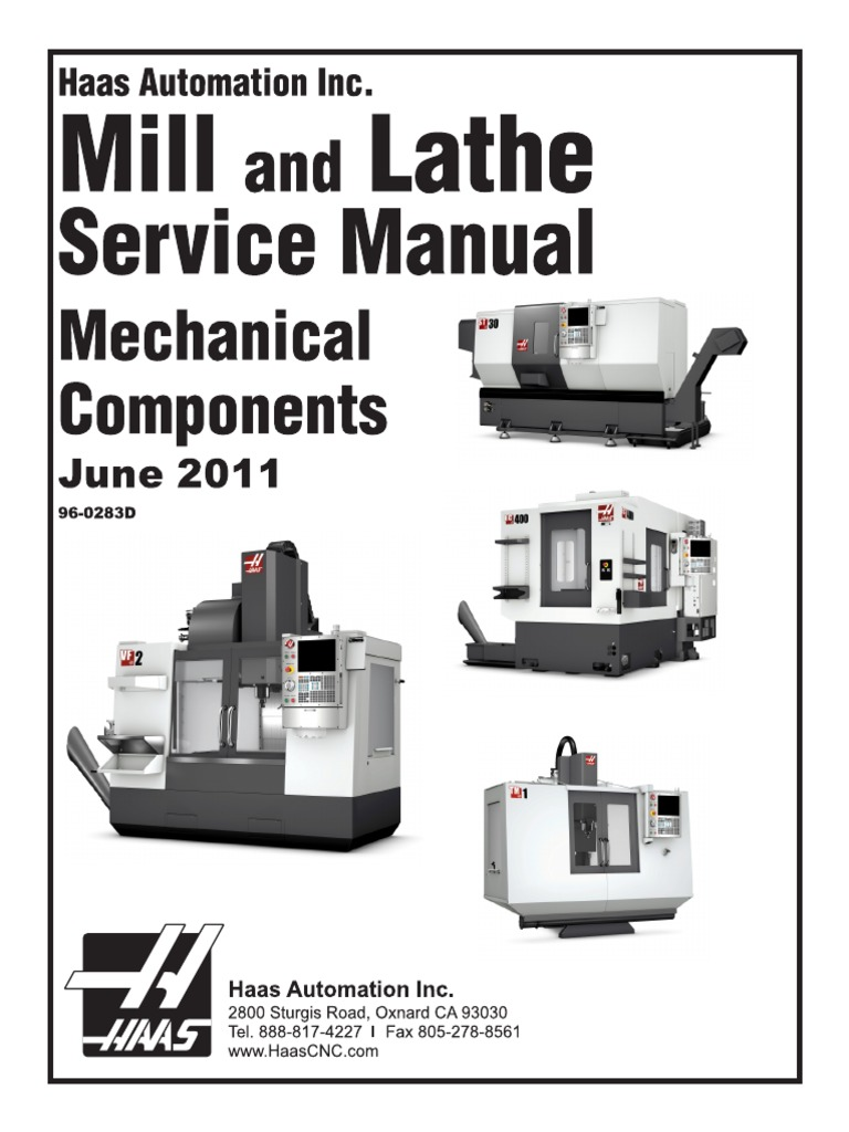 HAAS 96-0283D English Mechanical Service Manual | Com | Technology on