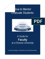 How to Mentor Graduate Students