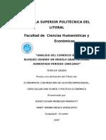 """ANÁLISIS DEL COMERCIO BILATERAL POR BLOQUES USANDO UN MODELO GRAVITACIONAL AUMENTADO PERÍODO 1980-2003"""""""